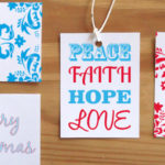 Free Printable Christmas Gift Tags – Red and Blue