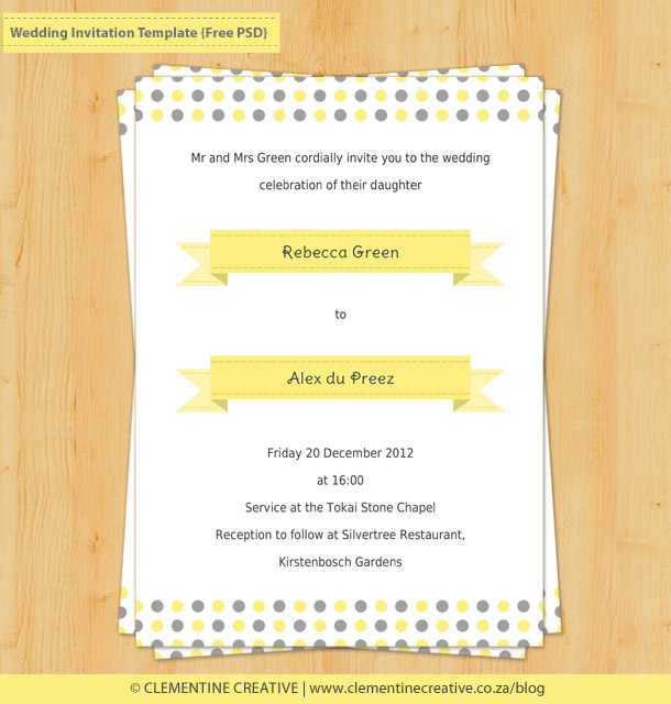 free wedding invitation template photoshop