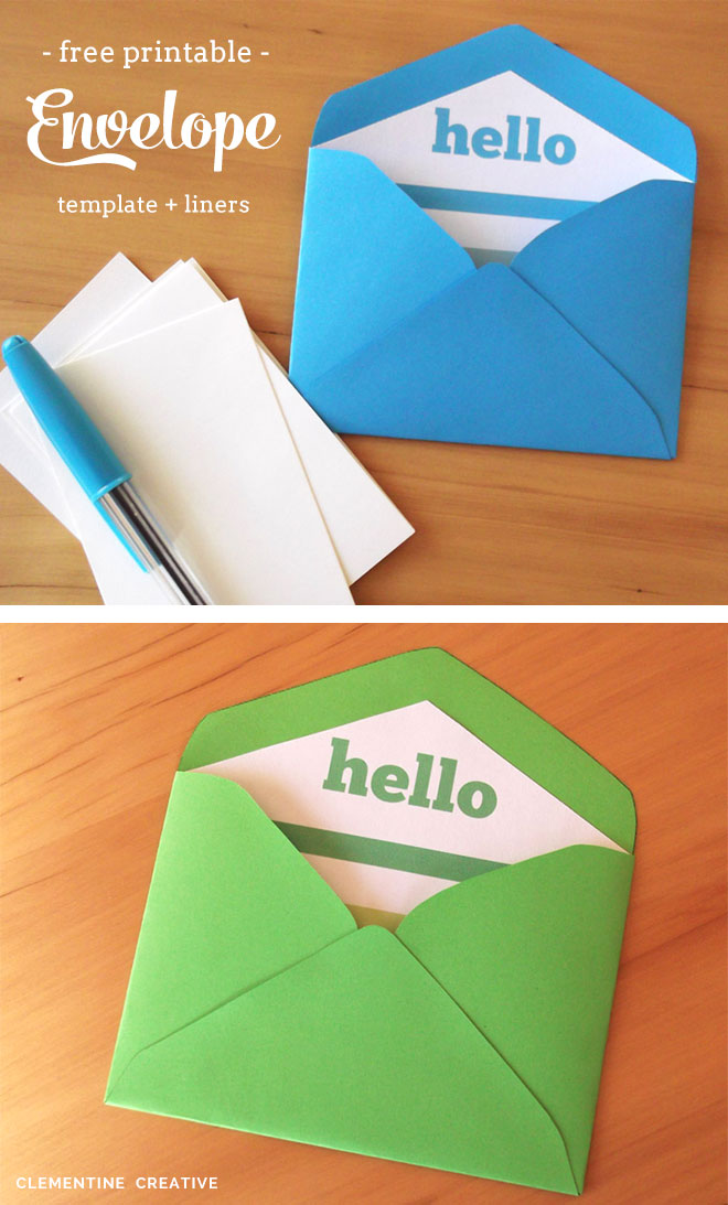Free Printable Mini Envelope Template And Liners