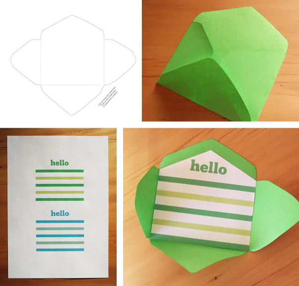 free printable mini envelope template - Free Envelope Template