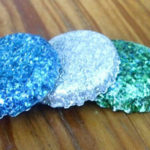 DIY Glitter Bottle Cap Magnets