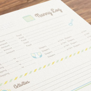 printable nanny logs