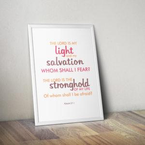 psalm 27 printable wall art