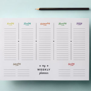 printable weekly planner page - retro