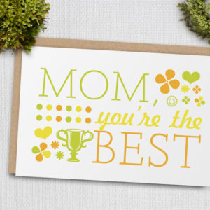 printable best mom mothers day card