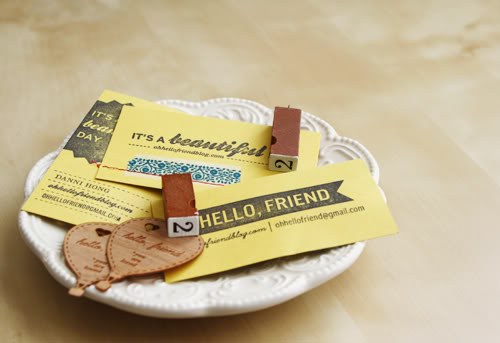 yellow-diy-stamped-business-cards