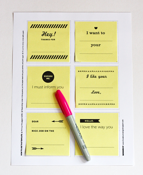 diy printable post-its