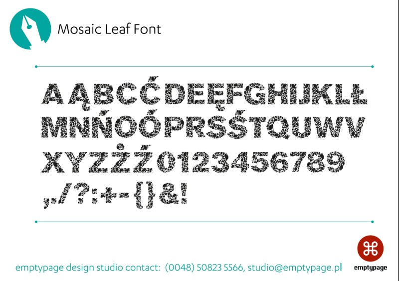 Mosaic Leaf Font Preview