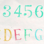Free Alphabet Rubber Stamp Photoshop Brush