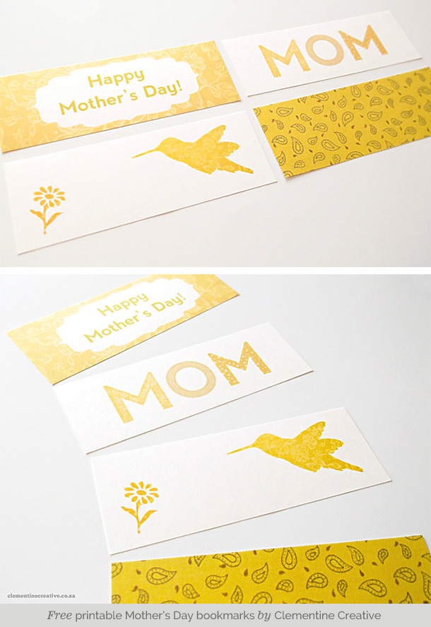 photo relating to Mother's Day Bookmarks Printable Free named Cost-free Printable Moms Working day Bookmarks