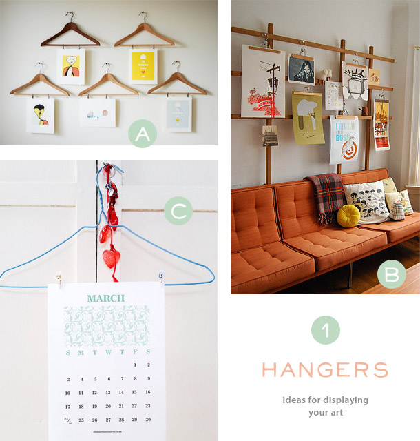 Creative Ideas for Displaying your Posters, Art and Calendars