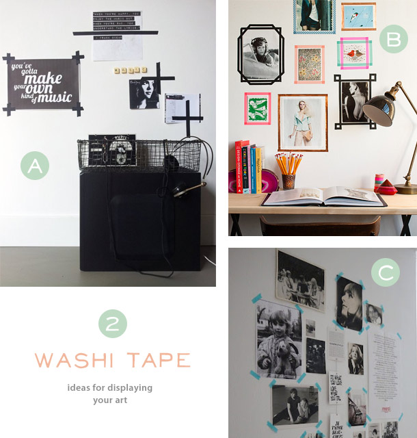 creative ideas for displaying your posters art and calendars
