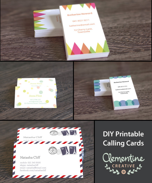 Free printable business card templates reheart Images