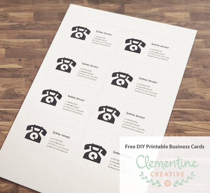 Free DIY Printable Business Card Template - Print at home business card template