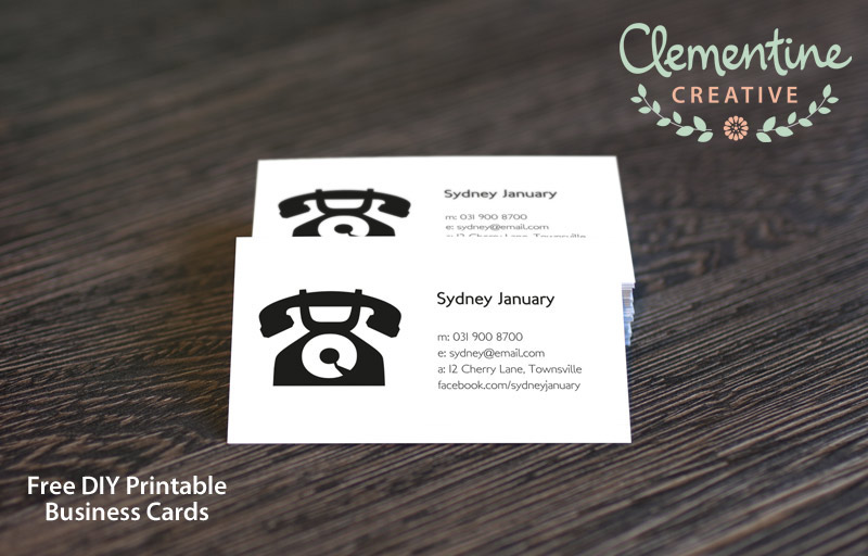 free DIY printable business card template