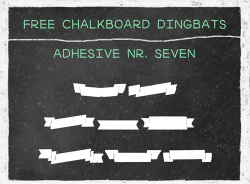free chalkboard ribbons and banners
