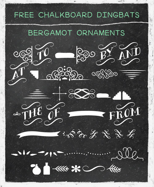 free chalkboard banners ornaments and swirls