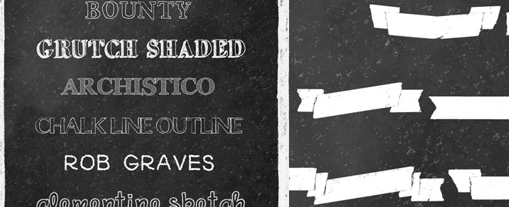 free chalkboard fonts and banners