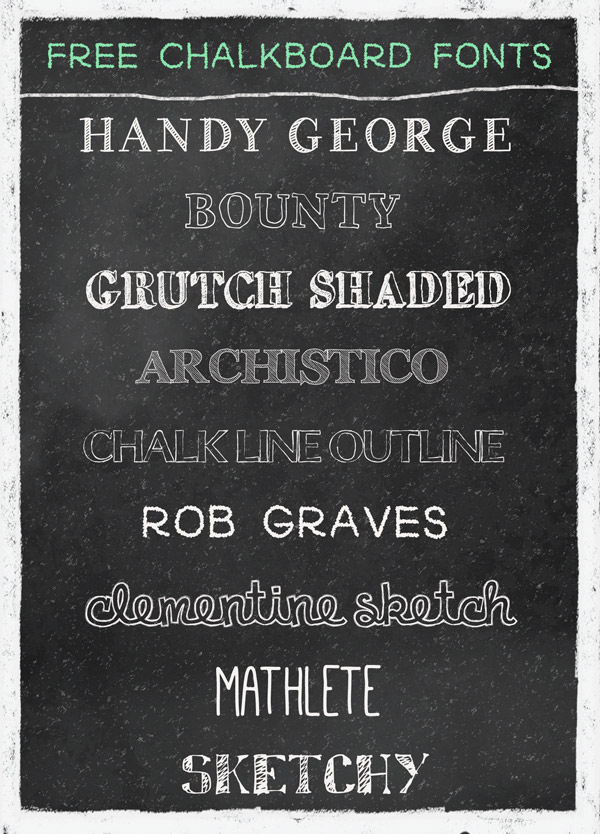 chalk lettering font free chalkboard fonts and resources 20805