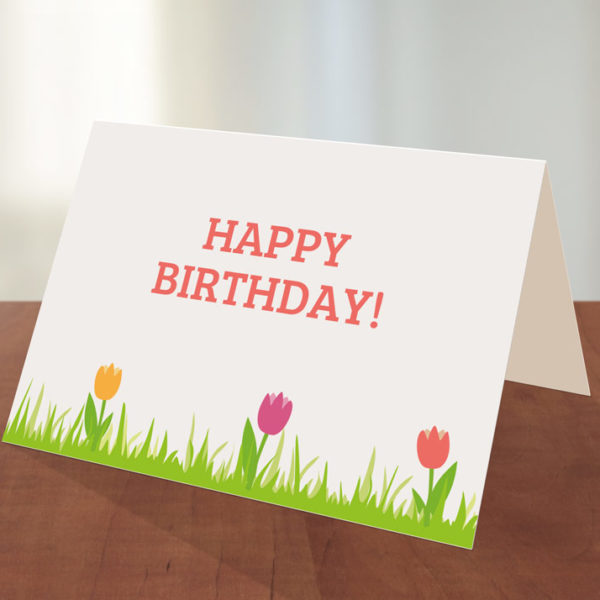 ... Cards / Printable Birthday Cards / Printable Birthday Card – Tulips