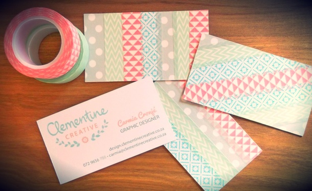 My diy washi tape business card washi tape business cards clementine creative colourmoves