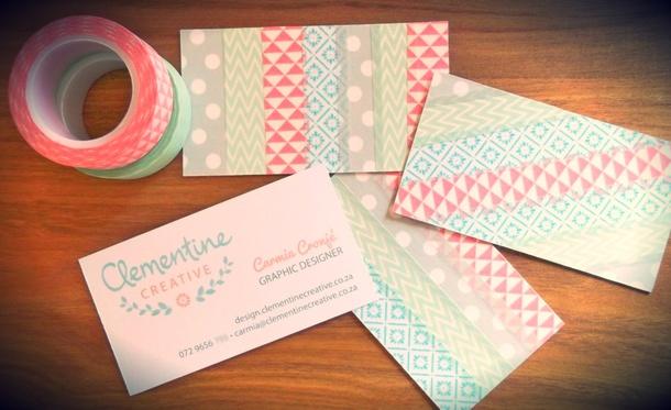 My diy washi tape business card washi tape business cards clementine creative colourmoves