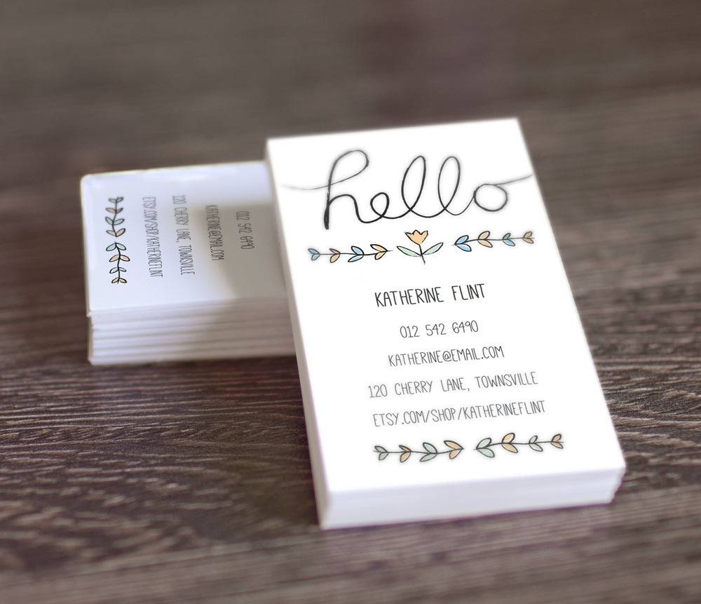 Free printable business card templates reheart Gallery