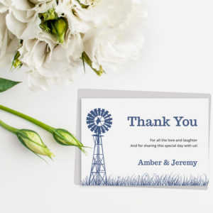 farm printable thank you card