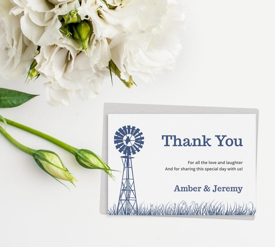 ... You Cards / Printable Wedding Thank You Card – Farmyard Fairy Tale