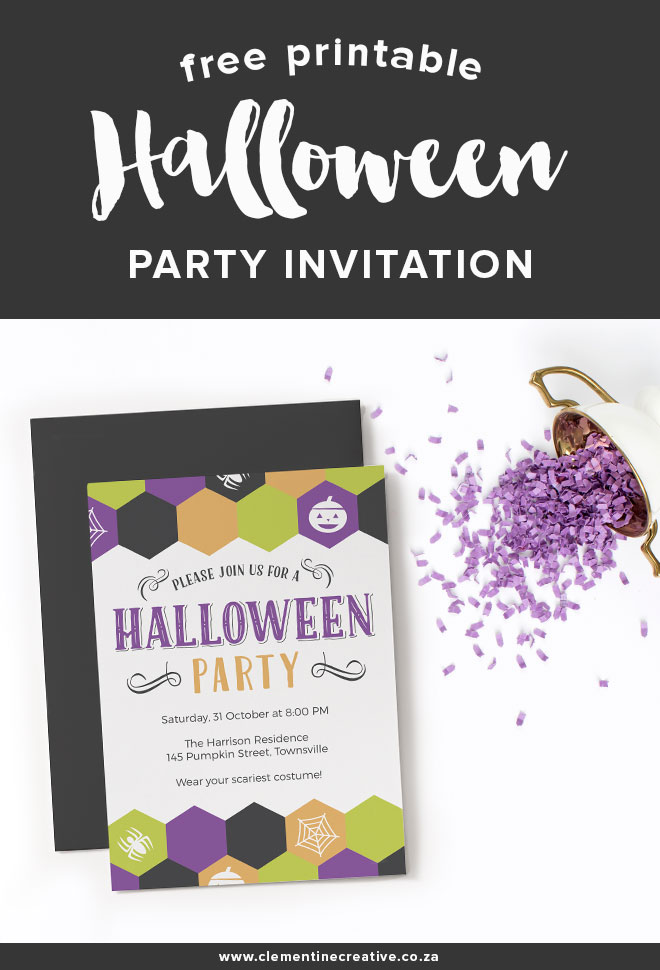 photograph relating to Printable Halloween Party Invitations titled Cost-free Printable Halloween Celebration Invitation