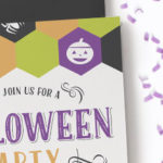 Free printable Halloween party invitation from Clementine Creative. Click here to download this fun template, fill in your own text on the PDF and print!