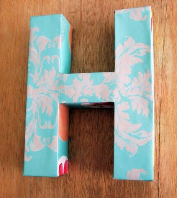 3D cardboard letter tutorial