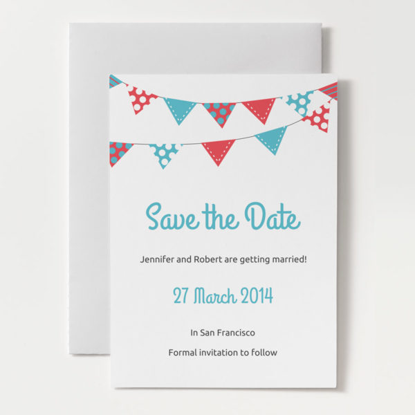 ... Printable Save the Dates / Printable Wedding Save the Date – Bunting