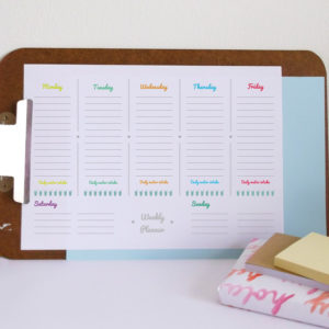 fillable printable weekly planner