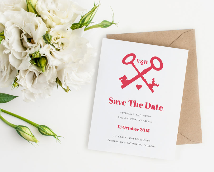 ... Save the Dates / Printable Wedding Save the Date – Key to my Heart