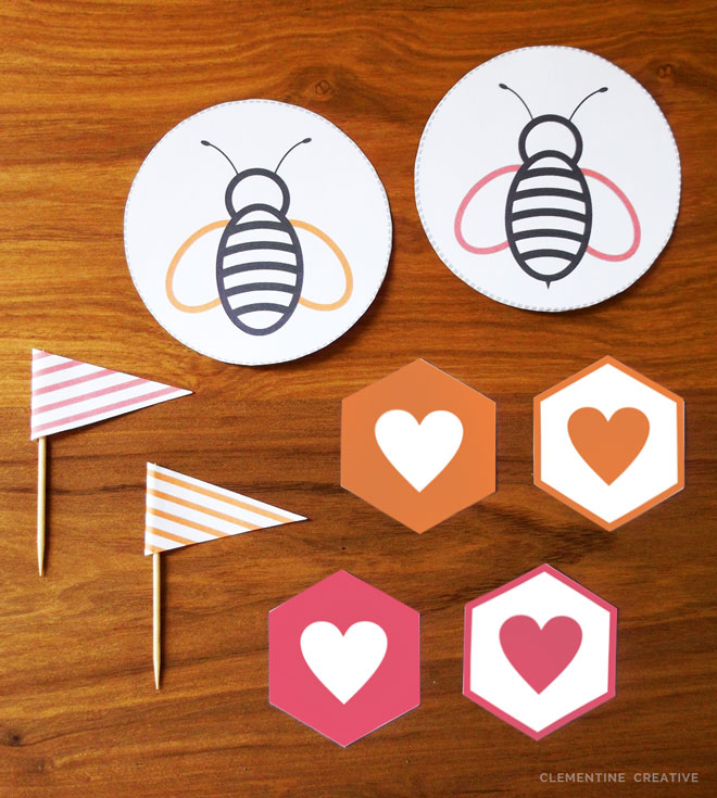 free printable honey valentine's day card and tags