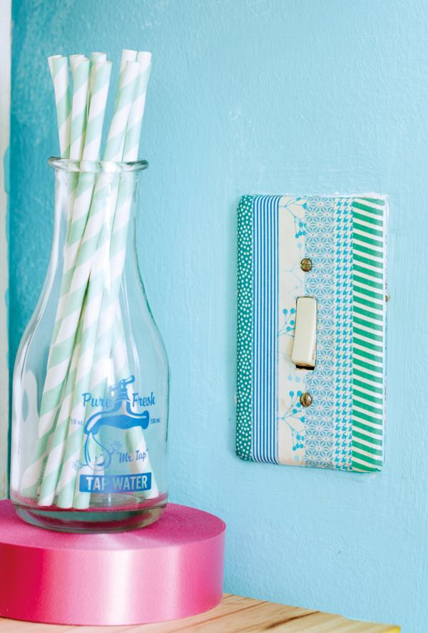 ideas magazine washi tape light switch