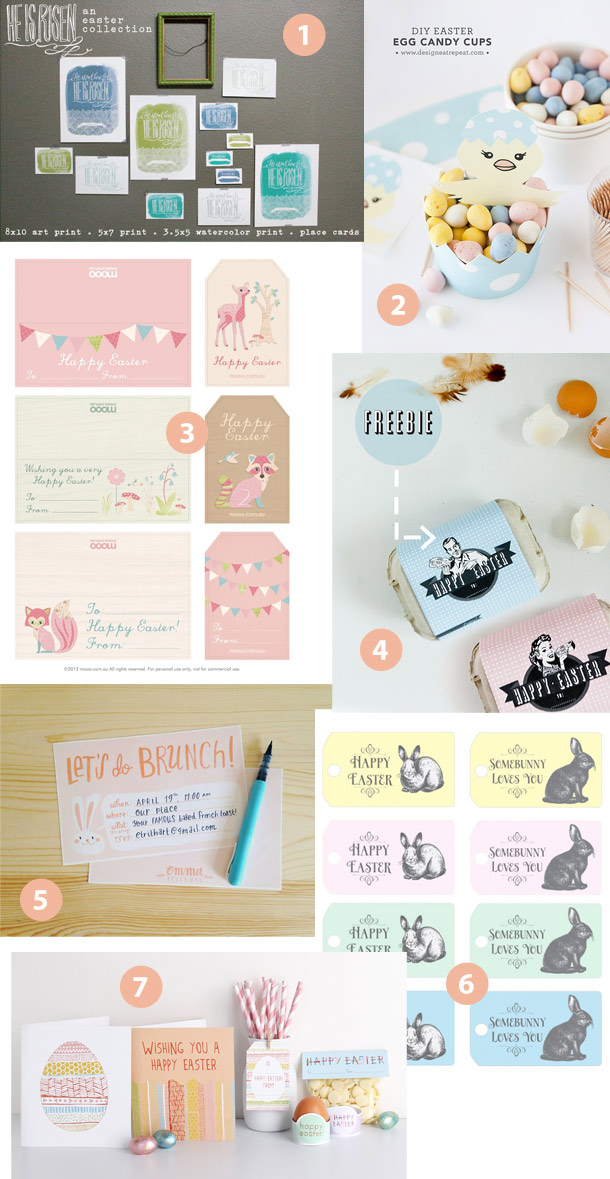 free easter printables roundup