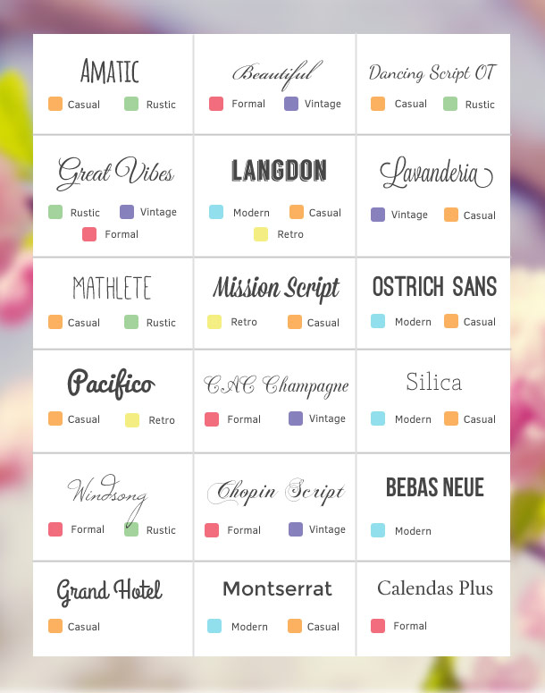 How to Choose Fonts for your Wedding Invitations – Beautiful Fonts for Wedding Invitations