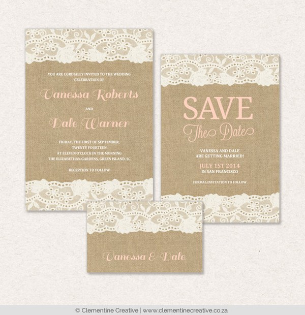 New digital invitations for greenvelope burlap and lace wedding invitations solutioingenieria Image collections