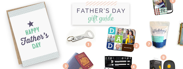 Printable Father's Day Card + Gift Guide