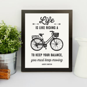 printable albert einstein bicycle quote