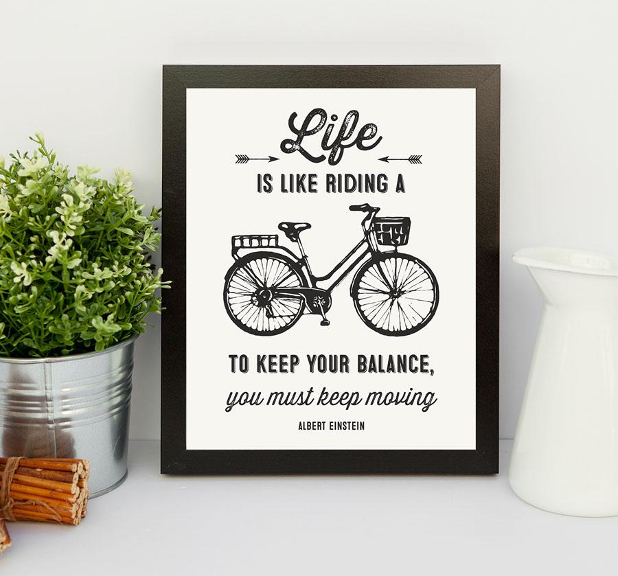 printable wall art motivational einstein quote