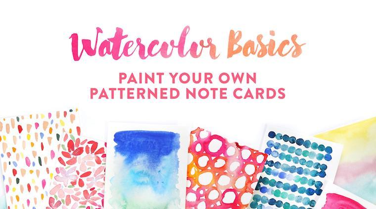 watercolor basiscs for beginners online class