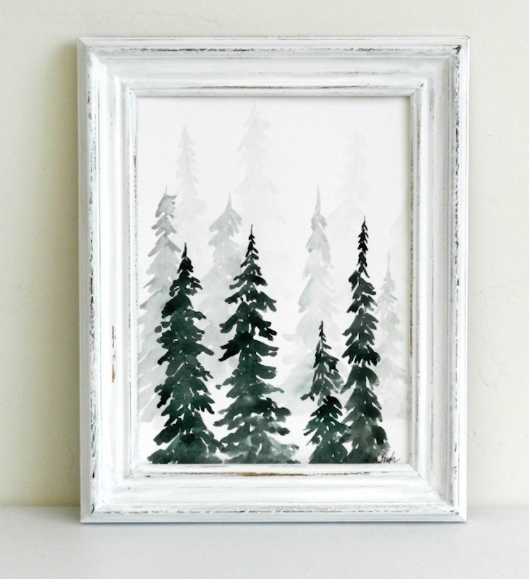 Watercolor Pine Tree Tutorial