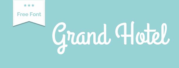 free font grand hotel