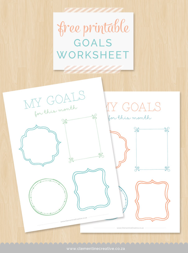 Goal Setting Worksheet Free Printable – Setting Worksheet