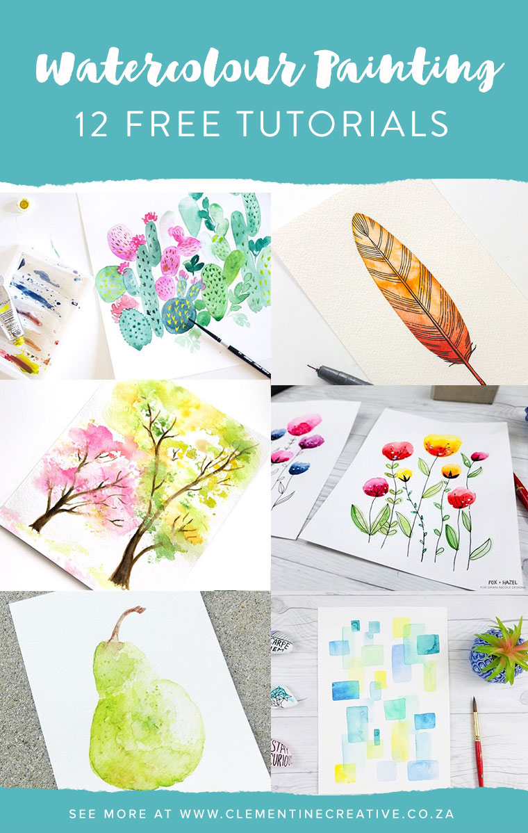 Want to learn watercolour painting? Check out these 12 free beginner-friendly tutorials.