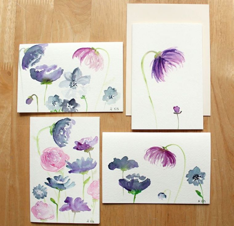 how to create watercolor flowers