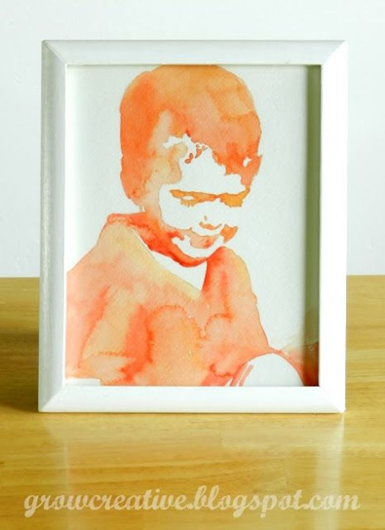 easy watercolor portrait